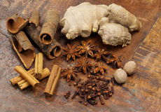 Selection of spices Royalty Free Stock Photo