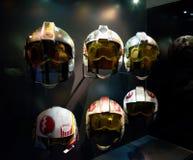 Selection of Star Wars pilot helmets Stock Image