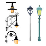 A selection of street lamps Stock Photo