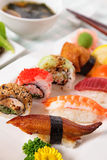 Selection of Sushi plate. Vertical. Stock Photos