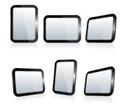 Selection of Tablets at different angles Royalty Free Stock Photography