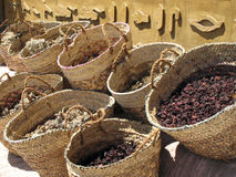Selection of Tea and Herbs. In front of an Egyptian shop Royalty Free Stock Image