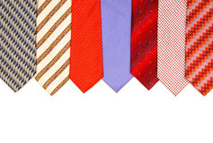 Selection of ties isolated Royalty Free Stock Photo