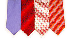 Selection of ties isolated Royalty Free Stock Image