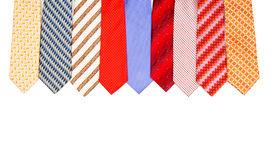 Selection of ties isolated Royalty Free Stock Photography