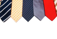 Selection of ties isolated Royalty Free Stock Photos