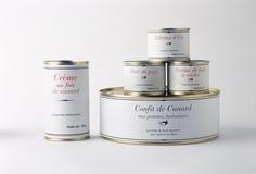 Selection of tins of food Stock Photos