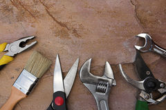 Selection of tools Stock Image