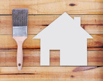 Selection of tools and  house Stock Photos