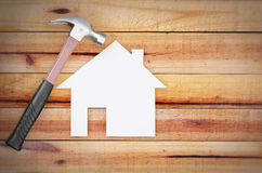 Selection of tools in the shape of a house Royalty Free Stock Images