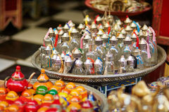 Selection of traditional bottle for perfumes or incenses Royalty Free Stock Photography