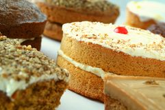 Selection of traditional cakes Royalty Free Stock Image