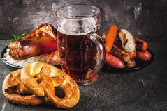 Selection food for Oktoberfest royalty free stock photo