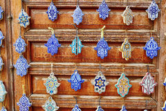 Selection of traditional Moroccan amulets Stock Image