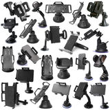 Selection of various car holders Royalty Free Stock Photography