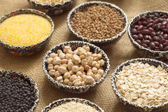 Selection of various colorful cereal Royalty Free Stock Photo