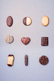 Selection of various cookies Royalty Free Stock Photos