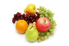 Selection of various fruits isolated Stock Image