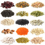 Selection of various legumes Royalty Free Stock Photo