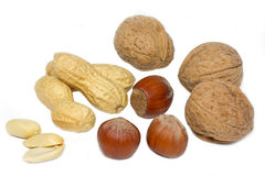 Selection of various nuts Stock Image