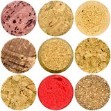 Selection of various wine corks Stock Photos