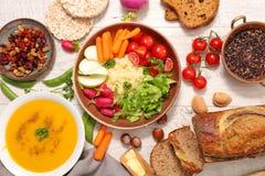 Selection of vegan food Royalty Free Stock Photos