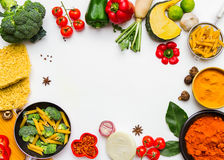 Selection vegetables and herb. Stock Images