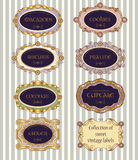 Selection of vintage labels. With sample text Royalty Free Stock Image