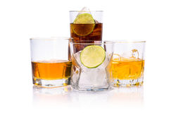 Selection of whiskey. Royalty Free Stock Image