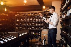 Selection of wine. What defines a good wine stock photography