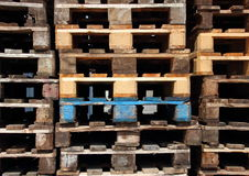 Selection of wooden transport pallets front view Royalty Free Stock Photography