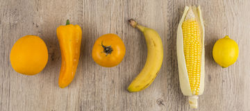 Selection of orange and yellow fruit Royalty Free Stock Images