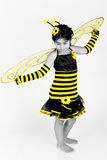 Selective coloring bee Stock Image