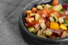 Selective colour image of a salad salsa Stock Photography