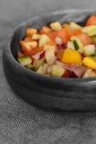 Selective colour image of a salad salsa Royalty Free Stock Image