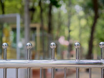 Selective focus at aluminium fence Royalty Free Stock Photos