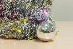 Selective focus ball Christmas decoration on wood. Stock Photography
