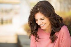 Beautiful mature woman smiling. Stock Photography