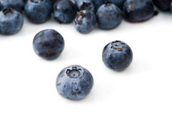 Selective Focus on Blueberry. Selective focus on the foreground blueberry Royalty Free Stock Photos