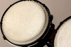 Selective focus bongo drum and blur background. Royalty Free Stock Photography