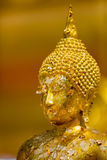 Selective focus Buddha face background - vintage effect style pictures Stock Photography