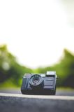 Selective Focus of Compact Camera Stock Photo