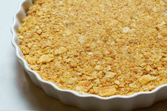 Selective focus cracker crust. In the circle dish Stock Images