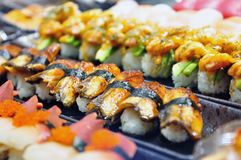 Selective focus of eel sushi Royalty Free Stock Image