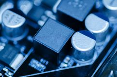 Selective focus effect and macro view of the group of electronic Royalty Free Stock Photo