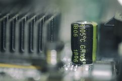 Selective focus effect and macro view of the group of electronic Royalty Free Stock Photos