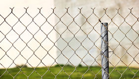 Close up of a Metal Fence Stock Images