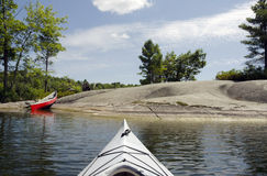 Kayak and Canoe on the Lake Royalty Free Stock Photo