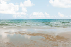 Selective focus on Gentle waves. With tropical beach Stock Image