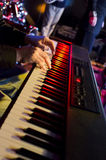 Keyboard Player's Hands Royalty Free Stock Images